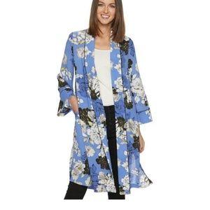 🆕 Jennifer Lopez Floral Open-Front Kimono